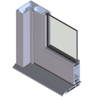 202 Non-thermally Broken Commercial Door Systems